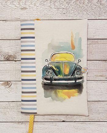 """Рисувана подвързия за книга """"Автомобил"""""""