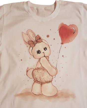 """Рисувана тениска """"Зайче"""""""