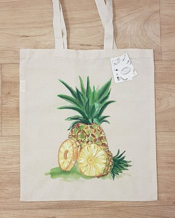 "Рисувана текстилна торба ""Ананас"""