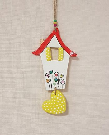 """Керамична къща """"Шарените цветя с жълто сърце"""""""