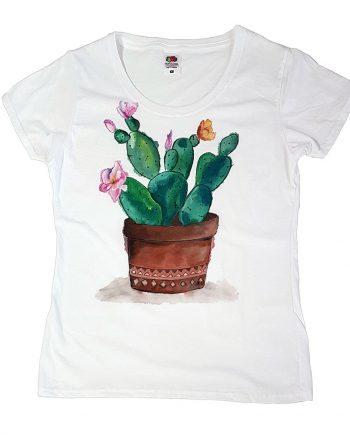 """Рисувана тениска """"Кактус"""""""
