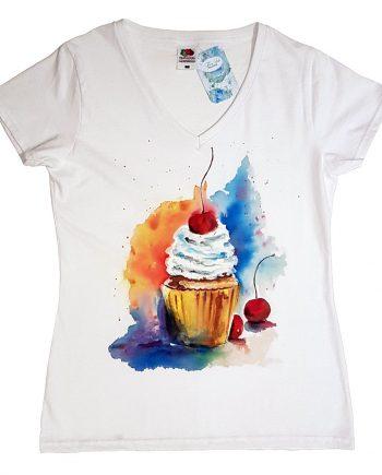 """Рисувана тениска """"Кексче"""""""