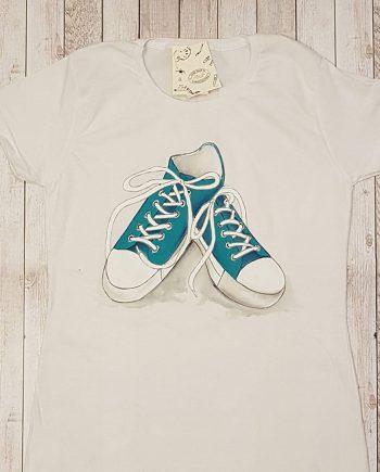 """Рисувана тениска """"Кецове"""""""
