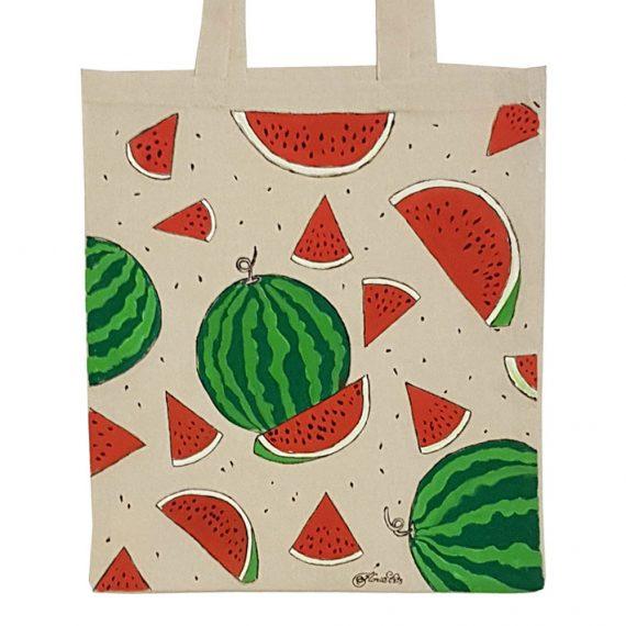"""Рисувана текстилна торба """"Диня"""""""