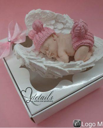 """Подаръче за гости """"Бебе с крила"""" в кутийка"""