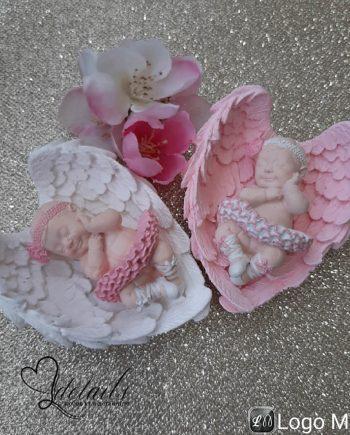 """Подаръче за гости """"Бебе балерина с крила"""" в кутийка"""