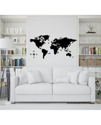 Дървена карта на света