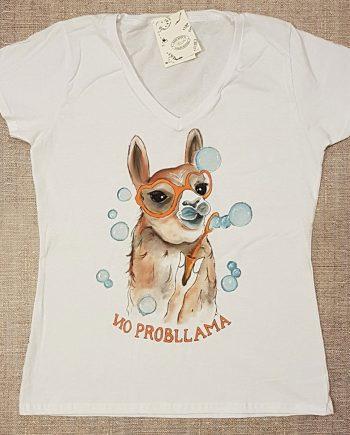 """Рисувана тениска """"Лама с балони"""""""