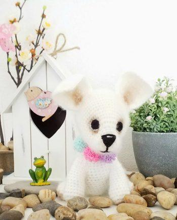 """Плетена играчка """"Молли"""" - кученце"""