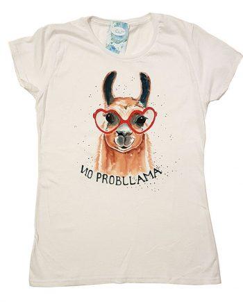 """Рисувана тениска """"Лама с очила"""""""